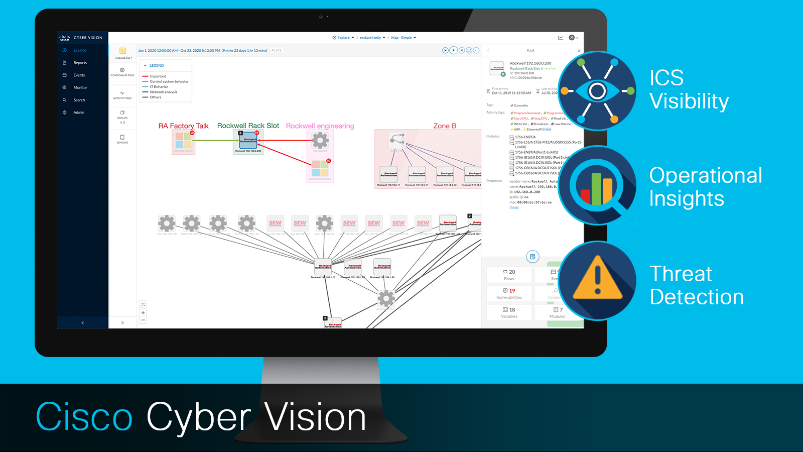 Cisco Cyber Vision: ICS Visibility, operational insights, threat detection