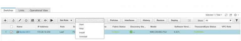 Figure 4. Agent Install on Cisco Nexus 9000 (NX-OS)
