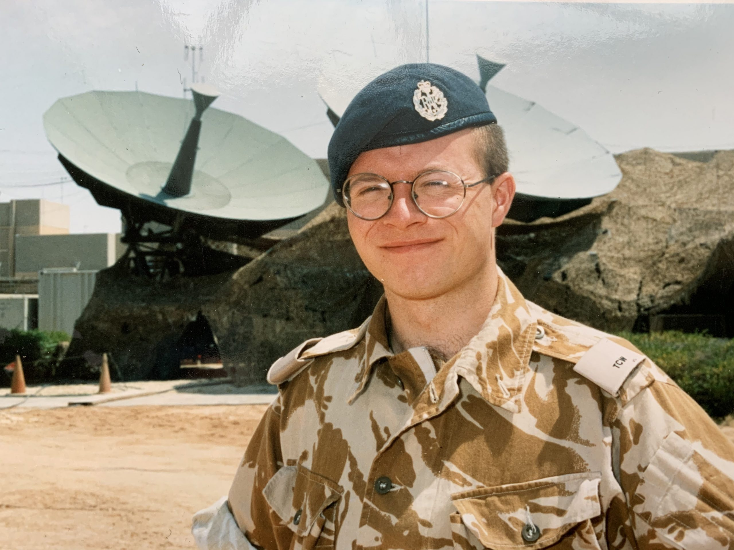 Mat in his Royal Airforce uniform.
