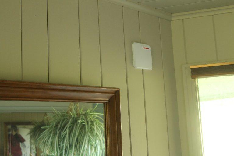 Battery-free IoT sensor on a wall