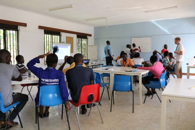People attending a training session
