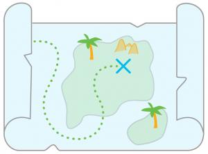 X marks the spot treasure map