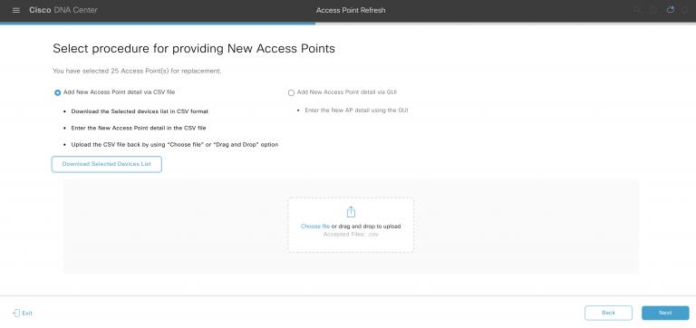 Cisco DNA Center Access Point Refresh