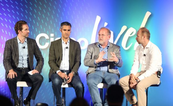 Rob Salvagno hosting a panel on Cisco Investments at Cisco Live