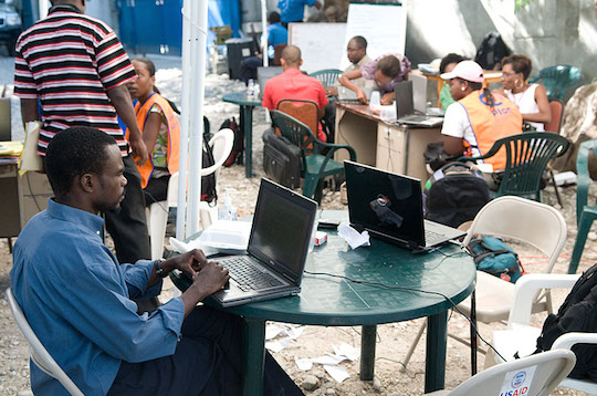 After an earthquake in Haiti in 2010, NetHope restored broadband access, enabling 15 of its members to speed delivery of food, water, shelter, and medical assistance.