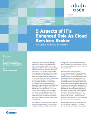 How can leaders manage the transition to a cloud services broker? Check out the new Gartner newsletter to learn more.