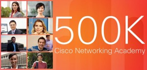 Cisco Networking Academy 500K Fans