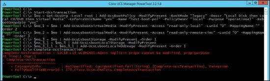 Error running generated PowerTool Cmdlets