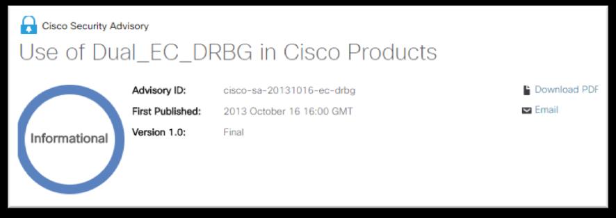 Cisco Security Advisory - Informational
