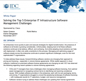 IT Infrastructure Software Management Report by IDC