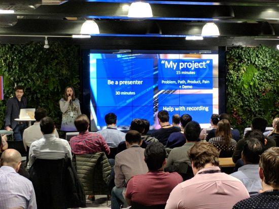 Csilla Bessenyei presenting on network automation