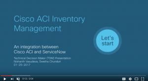 Cisco ACI and Servicenow