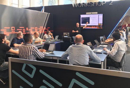 Bryan Byrne leads a workshop