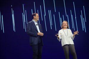 Chuck Robbins and Google's Diane Green