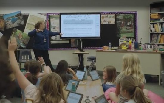 Students at Shawnee Mission learn with digital technology.