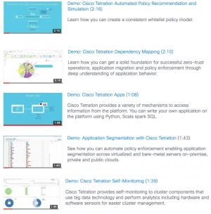 Cisco Tetration Demos