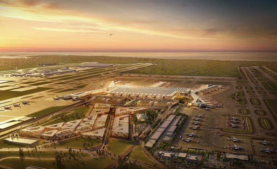 Istanbul Grand Airport Overhead