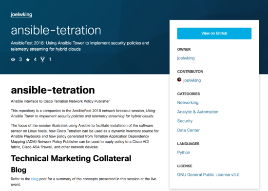 Ansible Tetration