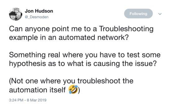 Jon Hudson Twitter Question