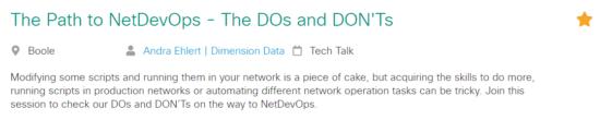 DevNet Create session