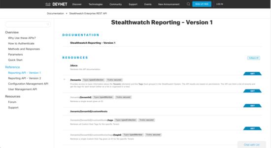 Stealthwatch on DevNet