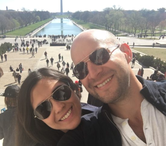 Gergely and his wife Alexandra in Washington, D.C.