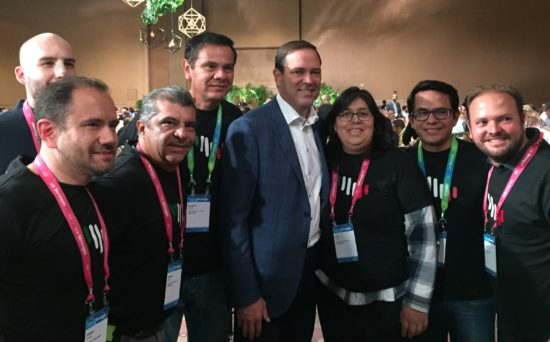 Roxana and her peers with current Cisco CEO Chuck Robbins.