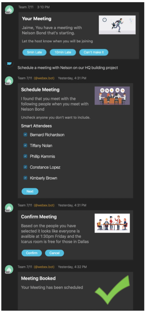 Showcasing the new Webex Teams & Buttons & Cards