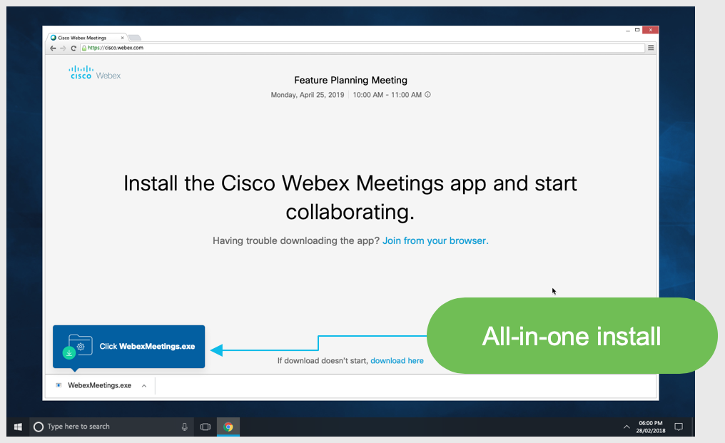 Install the Cisco Webex Meetings app and start collaborating