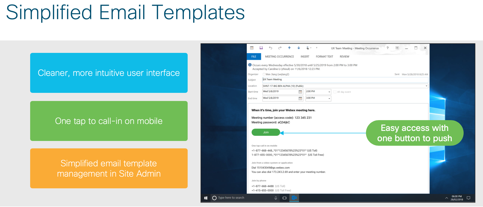Simplified Email Templates