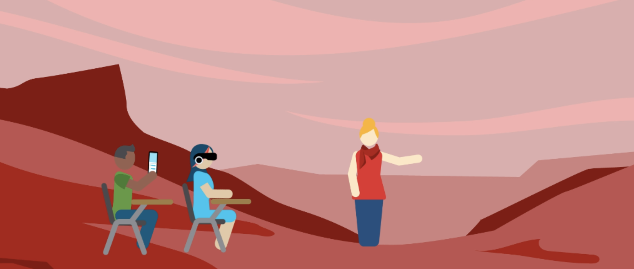 Students use VR to experience Mars