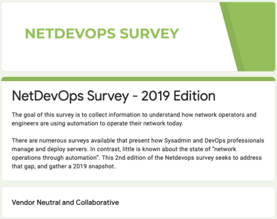 NetDevOps Survey
