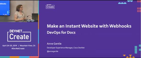 Anne Gentle DevNet Create