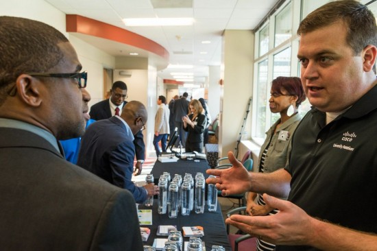 On 4 Cisco campuses, veterans learned about Cisco's efforts to find meaningful in the technology field