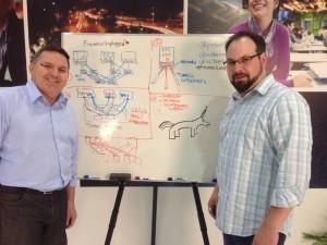 Packet Pushers, aka Greg Ferro and Ethan Banks, plus unicorn!