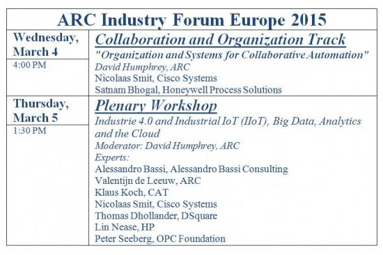 ARC Forum 2015 Ams