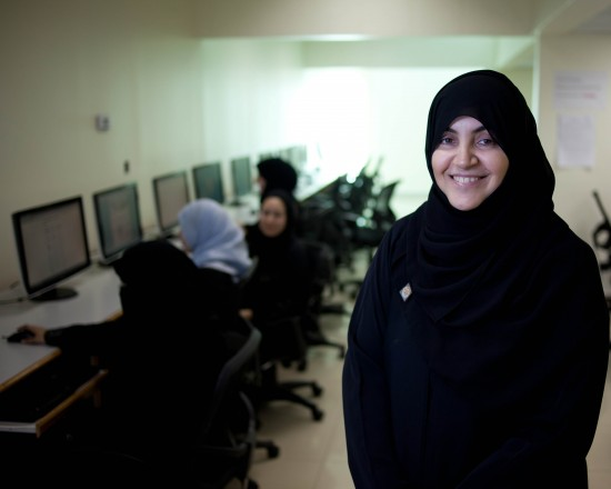 Dr. Akila Sarirete leads a networking technology program for woman at Effat University in Saudi Arabia as a lecturer and IT supervisor in 2002. Her goal is to expand employment options for women and help advance their careers.
