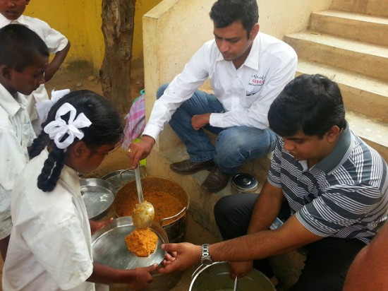 Cisco India employees fight hunger by supporting Akshaya Patra