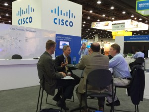 Andreas Mai, Director of Product Management for Cisco leads a strategic discussion at ITS World Congress in Detroit.