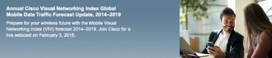 Annual Cisco VNI GLobal Mobile Data Traffic Forecast Update