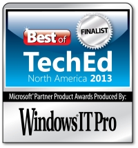 Best of TechEd North America 2013 Finalist
