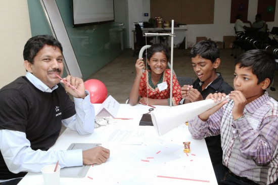 Students from Shanti Bhavan discover that STEM can be fun, learning science experiments from a Cisco employee. Shanti Bhavan is a nonprofit that educates the most socially and economically disadvantaged children of rural India.
