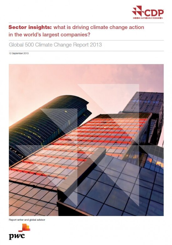 CDP Global 500 report cover page