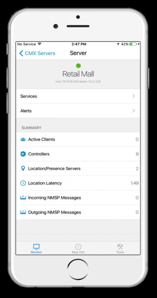 CMX Admin mobile app screenshot with iPhone bezel