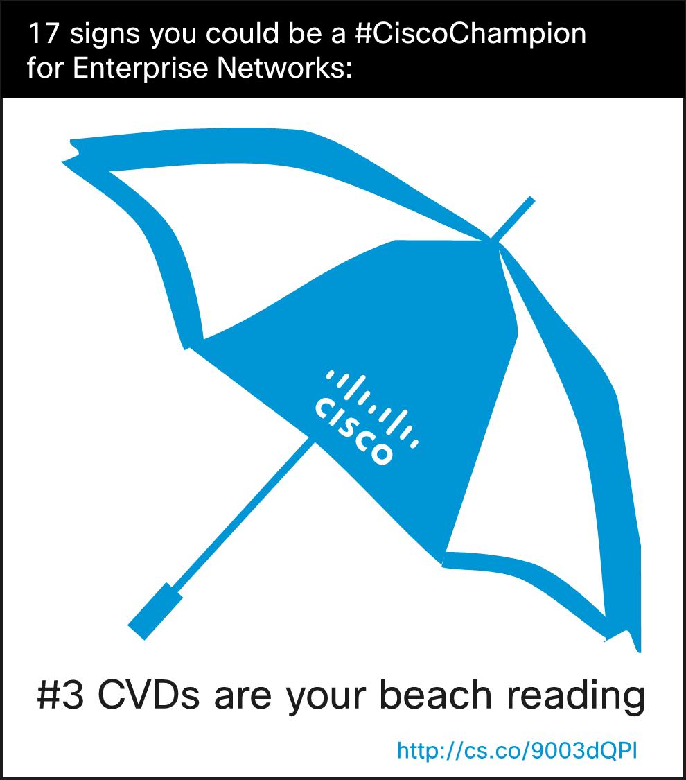Cisco Champions CVD Beach Reading