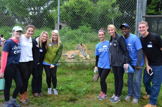 Early in Career Group at Carolina Tiger Rescue