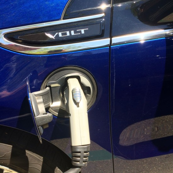 Charging a car is as simple as plugging a power cord into an outlet at home
