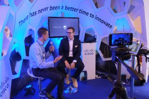 Christiaan and Rowan Periscope Talk at Cisco's Web Summit Booth