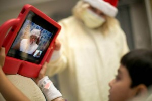 Santa Visits Hospitalized Children (photo courtesy of American Family Children's Hospital)