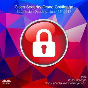 Cisco Security Grand Challenge: you have until June 17th 2014 to make a submission at CiscoSecurityGrandChallenge.com